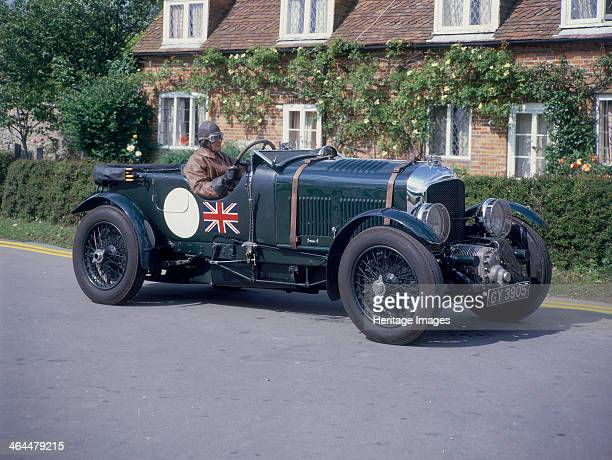 Bentley 45 litre Supercharged Early Bentley outside a cottage the driver wears gloves and goggles WO Bentley built his first sports car a 3 litre in...