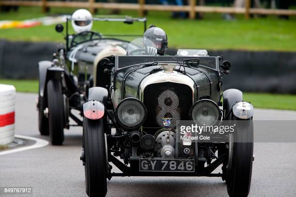 Bentley 45litre Supercharged driven by entrant Robert Fink in The Brooklands Trophy at Goodwood on September 8th 2017 in Chichester England
