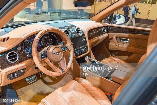 Bentley Bentayga Luxury Suv Interior Stock Photo Getty Images