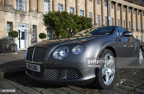 Bentley car is parked in front of property in the historic Royal Crescent on January 16 2015 in Bath England Although house prices are among the...