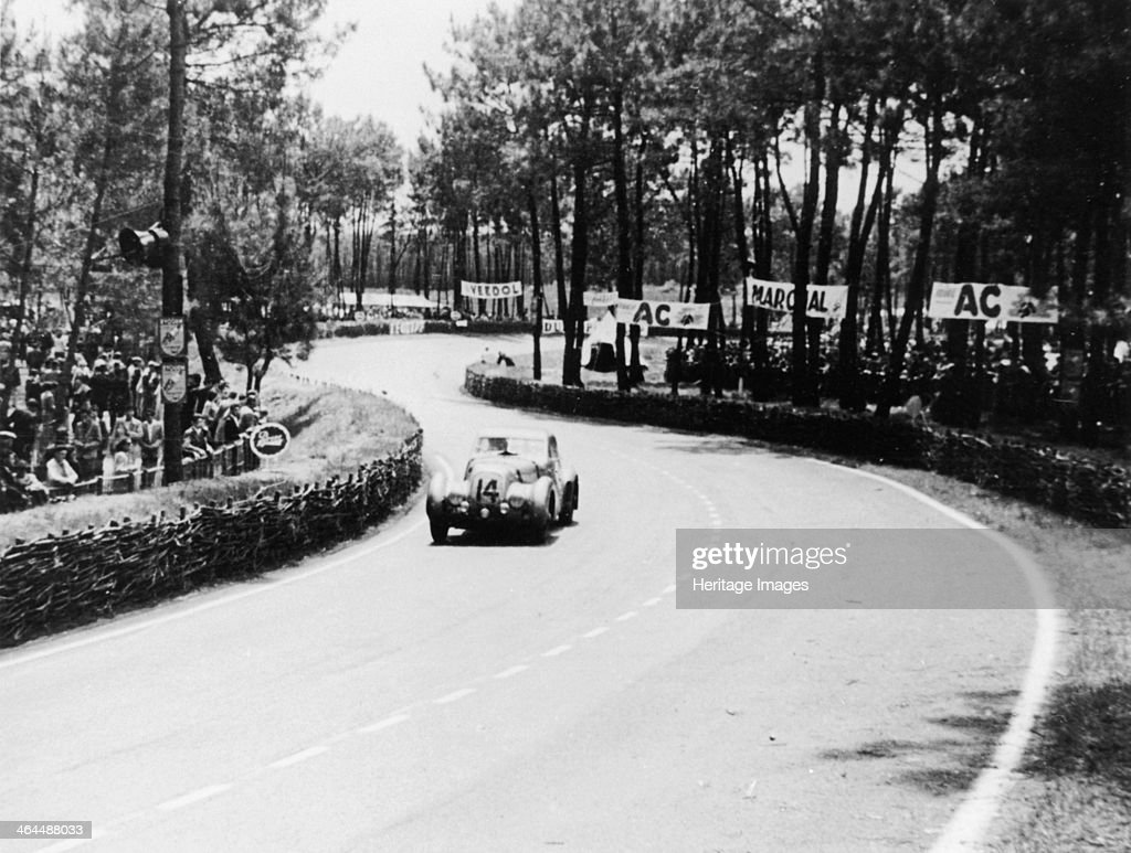 Bentley Corniche at Le Mans, France, 1951. The car of HSF Hay and T Clarke negotiates an s-bend during the Le Mans 24 Hour Race, in which they finished 22nd. Bentleys dominated the event between 1927 and 1930.