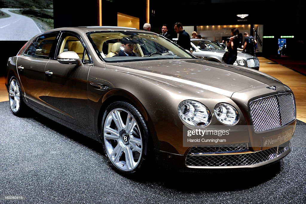 A Bentley Flying Spur is seen during the 83rd Geneva Motor Show on March 6, 2013 in Geneva, Switzerland. Held annually with more than 130 product premiers from the auto industry unveiled this year, the Geneva Motor Show is one of the world's five most important auto shows.