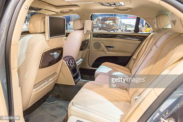 Bentley Flying Spur V8 luxury sedan interior