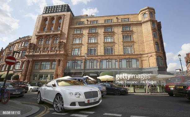 A Bentley outside Harrods in Knightsbridge in London as August sees hundreds of superrich Middle Easterners flying in from countries such as Saudi...