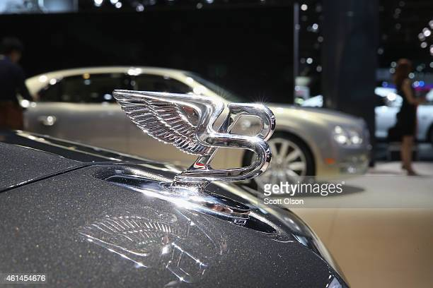 Bentley shows off their cars at the North American International Auto Show on January 12 2015 in Detroit Michigan The auto show opens to the public...