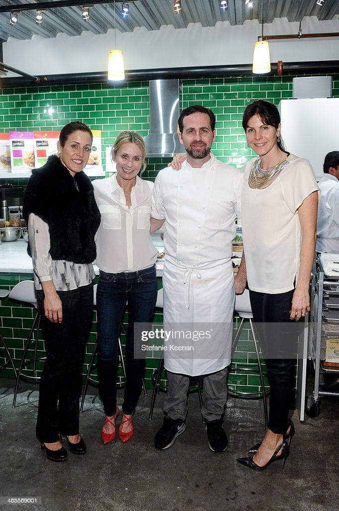 Benton Weinstock, Lisa Hirsh, Tal Ronnen and Annie Belanger attend Chef Tal Ronnen Presents a Gardein Dinner hosted by Yves Potvin, Stephanie Johnson and SetSipServe at Gardein Tasting Kitchen on January 27, 2014 in Marina del Rey, California.