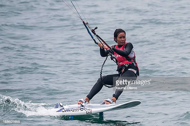 Benyapa Jantawan of Thailand competes on a raceboard during day four of the KTA Series on Pingtan Island on May 12 2013 in Fuzhou China