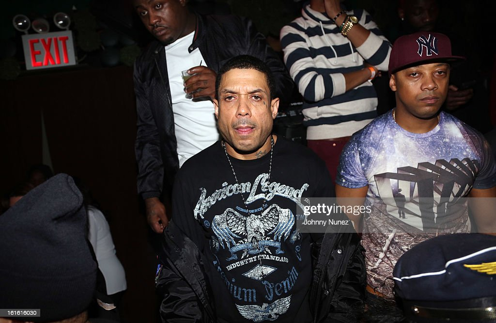 Benzino (c) attends the Baltimore Ravens Superbowl Victory Party at Greenhouse on February 12, 2013 in New York City.
