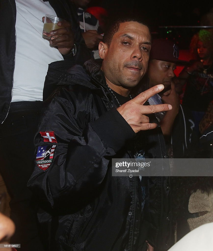 Benzino attends the official victory party of the Baltimore Ravens at Greenhouse on February 13, 2013 in New York City.