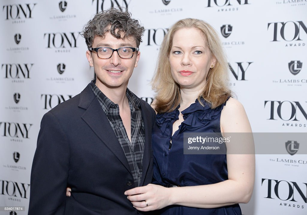 Beowulf Boritt (L) and Mimi Bilinski arrive at A Toast To The 2016 Tony Awards Creative Arts Nominees at The Lambs Club on May 24, 2016 in New York City.
