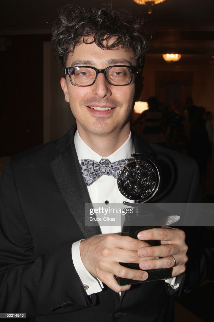 Beowulf Boritt winner of the award for Best Scenic Design of a Play for 'Act One' poses in the press room during the American Theatre Wing's 68th Annual Tony Awards at Radio City Music Hall on June 8, 2014 in New York City.