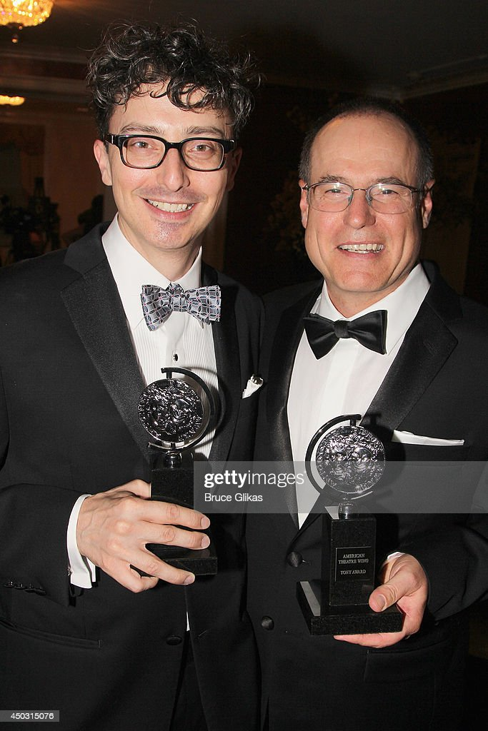 Beowulf Boritt, winner of the award for Best Scenic Design of a Play for 'Act One' (L) and Christopher Barreca, winner of the award for Best Scenic Design of a Musical for 'Rocky' pose in the press room during the American Theatre Wing's 68th Annual Tony Awards at Radio City Music Hall on June 8, 2014 in New York City.