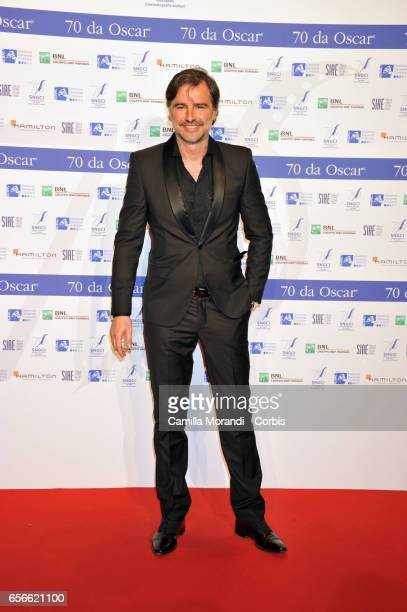 Beppe Convertini attends a photocall for Nastri D'Argento on March 22 2017 in Rome Italy