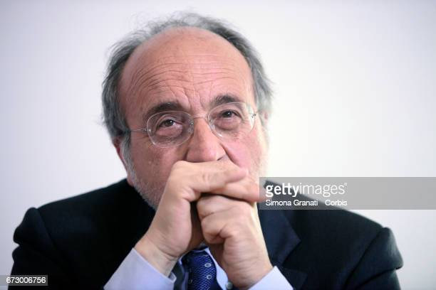 Beppe Giulietti president of National Federation of Italian Press during a press conference at the Foreign Press association headquarter in Rome...