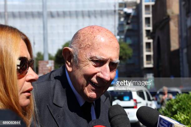 Beppe Modenese Honorary President National Chamber of Italian Fashion during the funeral of Laura Biagiotti