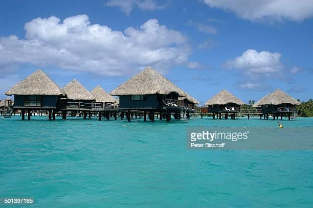 Über WasserBungalows einer Hotelanlage Vaitape Insel Bora Bora Südsee Reise BB DIG PNr 167/2005