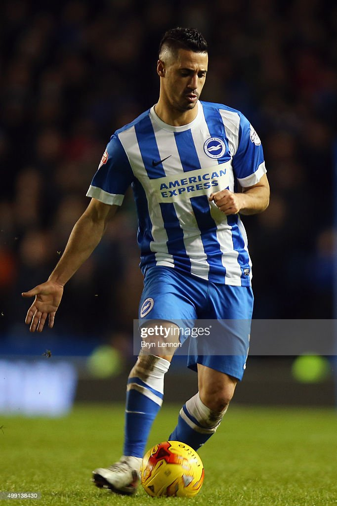 Beram Kayal of Brighton & Hove Albion in action during the Sky Bet Championship match between Brighton and Hove Albion and Birmingham City on November 28, 2015 in Brighton, United Kingdom.