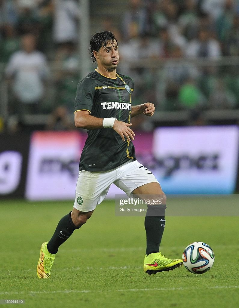 Beram Kayal of Celtic during the third qualifying round UEFA Champions League match between Legia and Celtic at Pepsi Arena on July 30, 2014 in Warsaw, Poland.