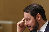 Berat Albayrak Turkey's energy minister gestures during a news conference in Ankara Turkey on Wednesday July 27 2016 Turkey will most likely cut...