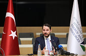 Berat Albayrak Turkey's energy minister speaks during a news conference in Ankara Turkey on Wednesday July 27 2016 Turkey will most likely cut...