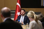Berat Albayrak Turkey's energy minister speaks to members of the media during a news conference in Ankara Turkey on Wednesday July 27 2016 Turkey...