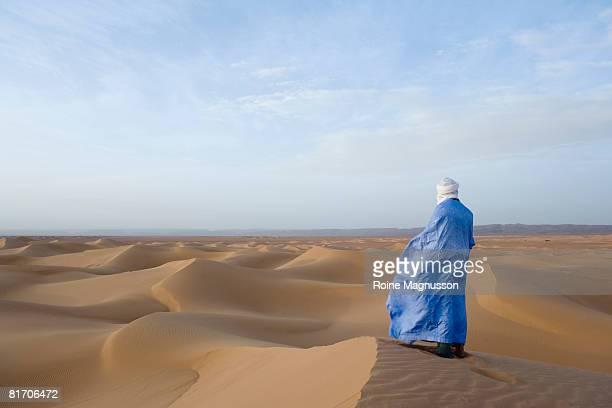 Berber in sand desert