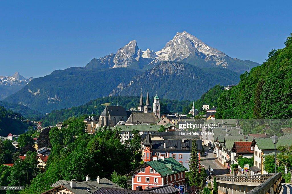 Berchtesgaden and Mount Watzmann, Bavaria : Stock Photo