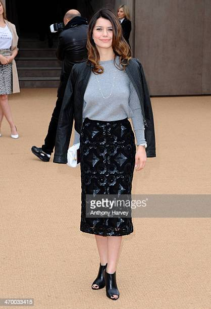 Beren Saat attends the Burberry Prorsum show at London Fashion Week AW14 at Kensington Gardens on February 17 2014 in London England