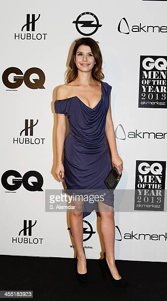 Beren Saat attends the GQ Turkey Men of the Year awards at Four Seasons Bosphorus Hotel on December 11 2013 in Istanbul Turkey
