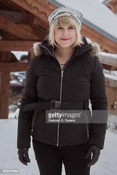 Berengere Krief attends the 18th L'Alpe D'Huez International Comedy Film Festival on January 14 2016 in Alpe d'Huez France
