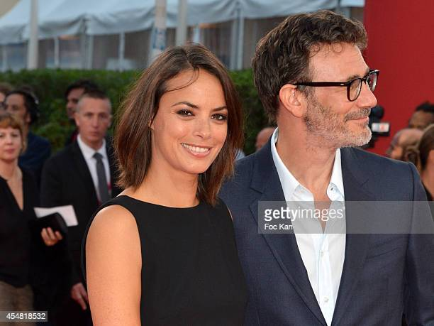 Berenice Bejo and Michel Hazanavicius arrive at 'The Hundred Foot Journey' premiere at the 40th Deauville American Film Festival at the CID on...
