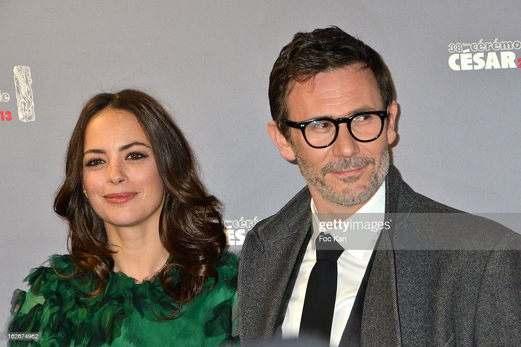 Berenice Bejo and Serge Hazanavicius attend the Red Carpet Arrivals - Cesar Film Awards 2013 at Theatre du Chatelet on February 22, 2013 in Paris, France.