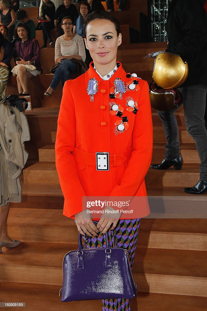 Berenice Bejo attends the Miu Miu Spring/Summer 2013 show as part of Paris Fashion Week on October 3, 2012 in Paris, France.