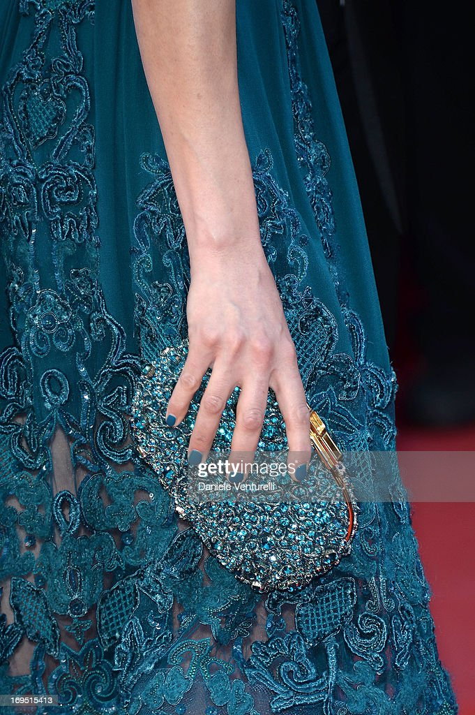 Berenice Bejo (clutch detail) attends the Premiere of 'Zulu' and the Closing Ceremony of The 66th Annual Cannes Film Festival at Palais des Festivals on May 26, 2013 in Cannes, France.