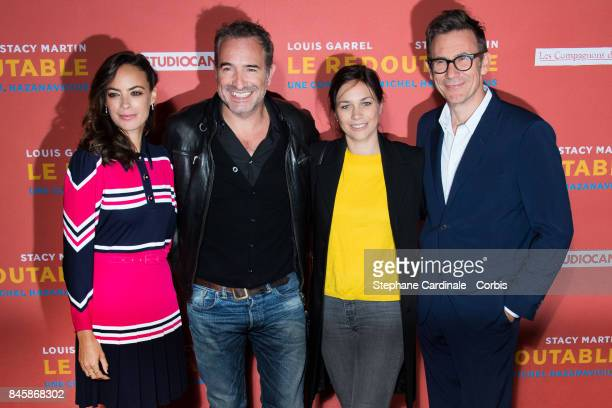 Berenice Bejo Jean Dujardin Nathalie Pechalat and Michel Hazanavicius attend the 'Le Redoutable' Paris Premiere at Cinema du Pantheon on September 11...
