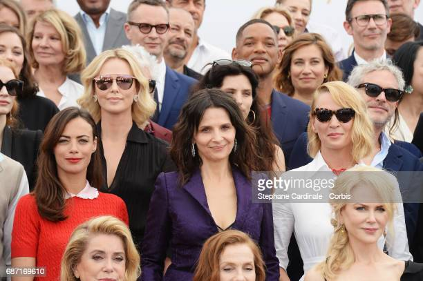 Berenice Bejo Juliette Binoche Isabelle Huppert Nicole Kidman Maiwen Uma Thurman Charlize Theron Catherine Deneuve and Jessica Chastain attend the...
