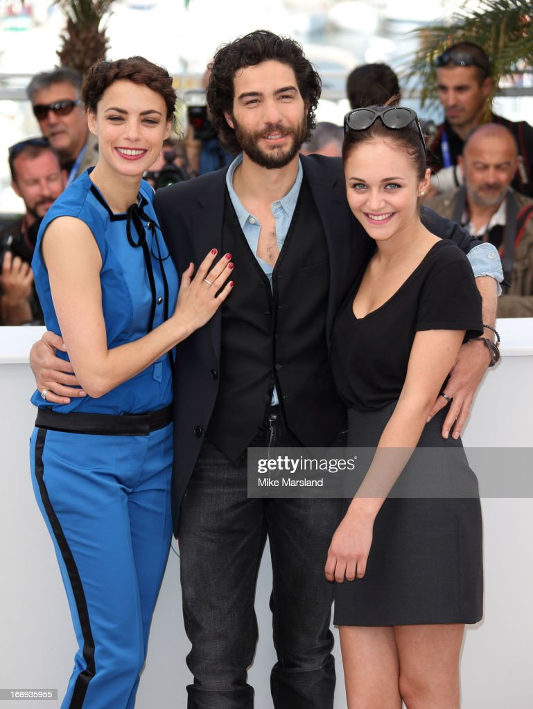 Berenice Bejo, <a gi-track='captionPersonalityLinkClicked' href=/galleries/search?phrase=Tahar+Rahim&family=editorial&specificpeople=5856944 ng-click='$event.stopPropagation()'>Tahar Rahim</a> and Pauline Burlet attend the photocall for 'Le Passe' (The Past) at The 66th Annual Cannes Film Festival on May 17, 2013 in Cannes, France.