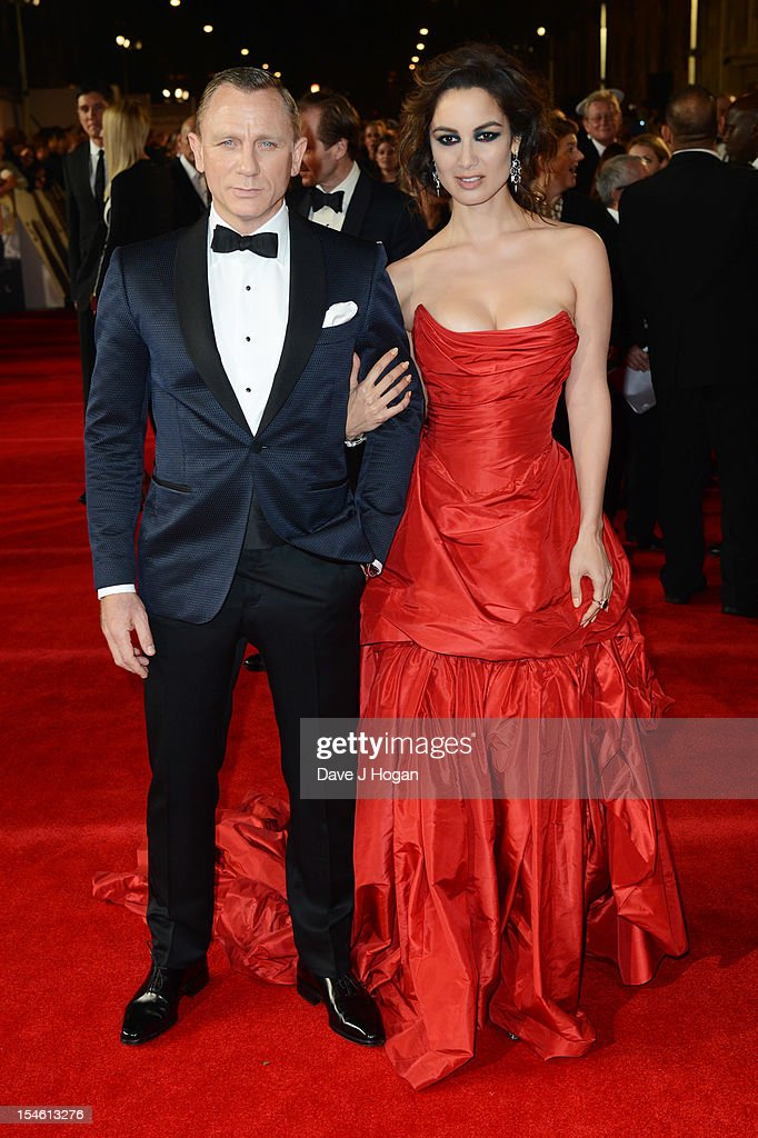 Berenice Marlohe and Daniel Craig attend the Royal world premiere of 'Skyfall' at The Royal Albert Hall on October 23, 2012 in London, England.