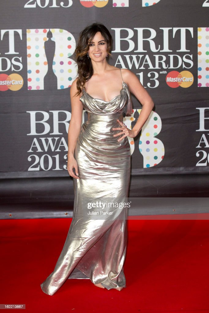<a gi-track='captionPersonalityLinkClicked' href=/galleries/search?phrase=Berenice+Marlohe&family=editorial&specificpeople=6966628 ng-click='$event.stopPropagation()'>Berenice Marlohe</a> attends the Brit Awards 2013 at the 02 Arena on February 20, 2013 in London, England.