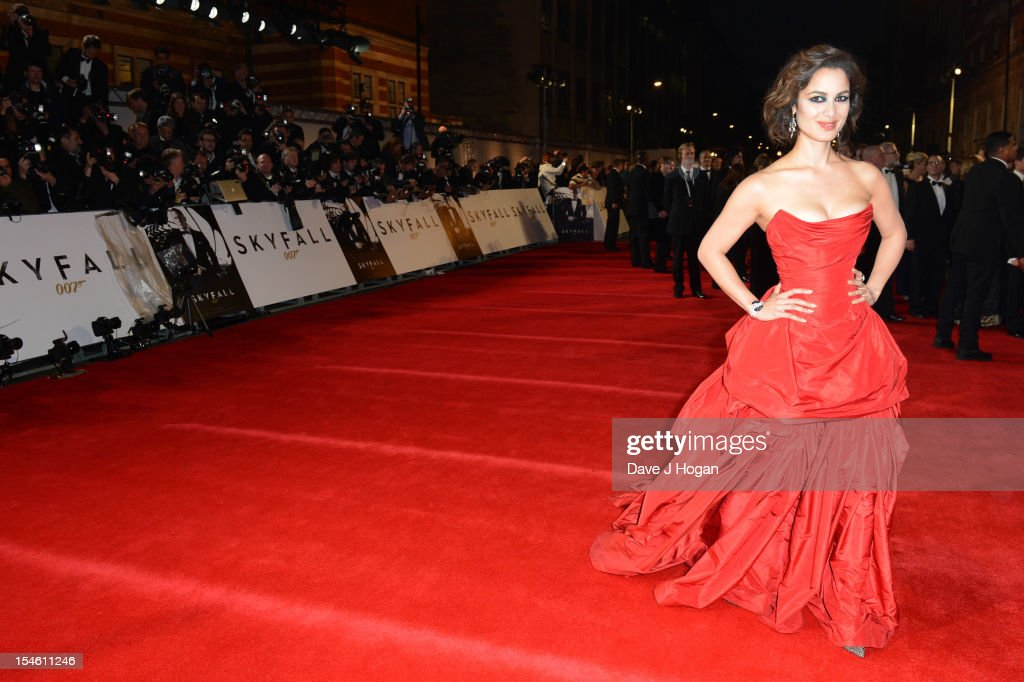 Berenice Marlohe attends the Royal world premiere of 'Skyfall' at The Royal Albert Hall on October 23, 2012 in London, England.