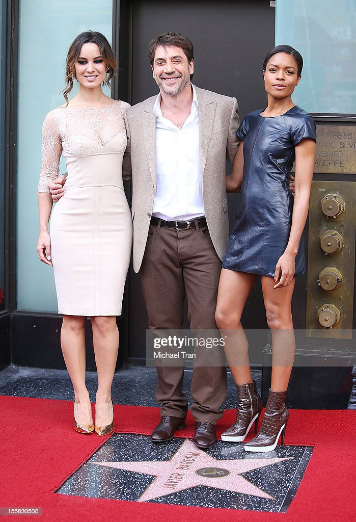 Berenice Marlohe Javier Bardem and Naomie Harris attend the ceremony honoring Javier Bardem with a Star on The Hollywood Walk of Fame held on...