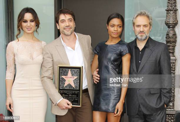 Berenice Marlohe Javier Bardem Naomie Harris and Sam Mendes attend the ceremony honoring Javier Bardem with a Star on The Hollywood Walk of Fame held...