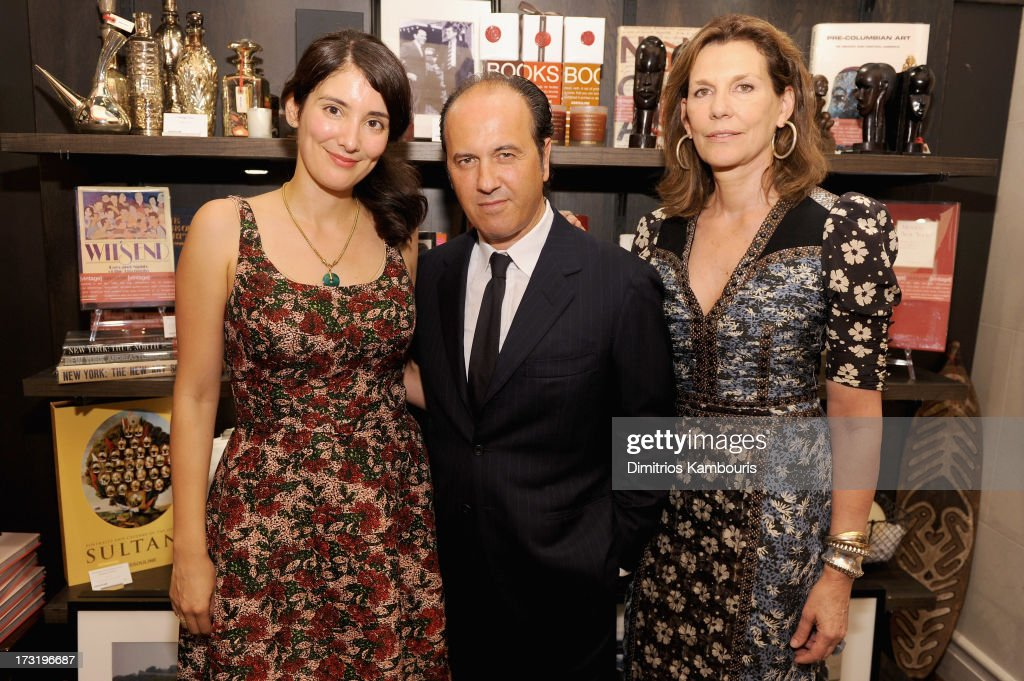 Berenice Vila Baudry, Prosper Assouline and Martine Assouline attend Martine and Prosper Assouline host book signing for author Berenice Vila Baudry's 'French Style' with the Ambassador of France Francois Delattre at Assouline at The Plaza Hotel on July 9, 2013 in New York City.