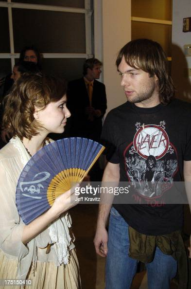 Z Berg and Mickey Madden during Richard Prince Check Paintings at Gagosian Gallery in Beverly Hills California United States