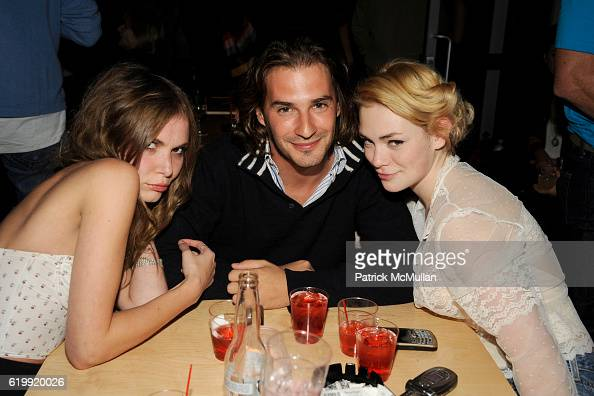 Z Berg George Pecnikov and Uffie attend SHIN Restaurant Opening at Shin on October 13 2008 in Hollywood CA