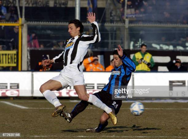 Zlatan Ibrahimovic of Juventus FC during the Serie A 21th round match between Atalanta of Bergamo vs Juventus of Torino played at the Atleti Azzurri...