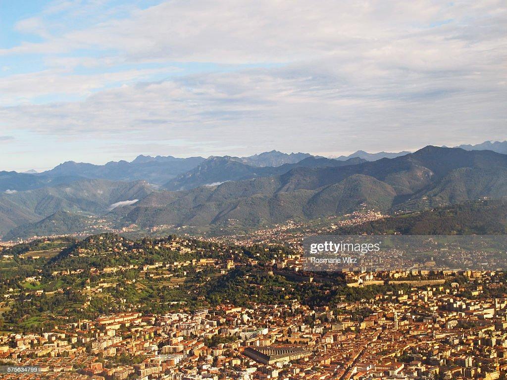 Bergamo aerial view