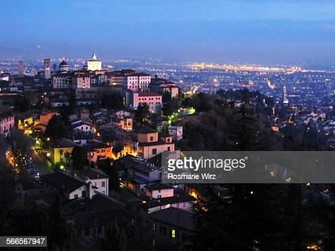 Bergamo by night