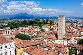 Bergamo cityscape, Lombardy, Italy