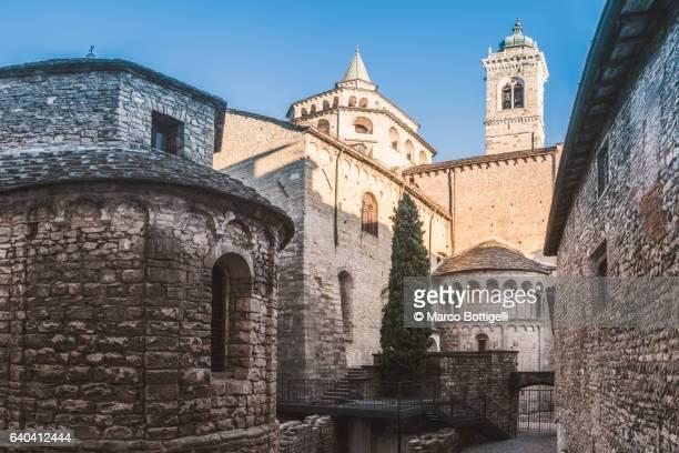 Bergamo, Italy. Saint Mary Major (Santa Maria Maggiore) Basilica in Upper Town (Città Alta).